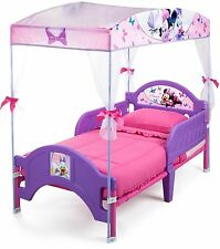 NEW Delta Children's Products Minnie Mouse Canopy Toddler Bed INTERNATIONAL SHIP