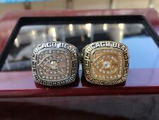 2pcs) 1985 Chicago Bears World championship Ring //--