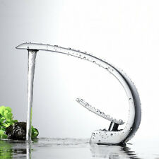Chrome Brass Bathroom Basin Faucet Waterfall Spout Single Handle Sink  Mixer Tap