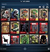 Topps Marvel Collect Digital - Any 9 Cards From My Collection See Details