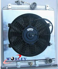 3 ROW aluminum radiator shroud fan Honda Civic EK EG 92-00 with 32mm in/out