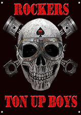 BALANCINES Ton Up Boys Letrero Metal,MODS Y balancines,MOTO ,retro ,década de