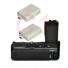 Pro Battery Grip Pack for Canon EOS T2i 550D 600D 650D Camera + 2X LP-E8 Battery