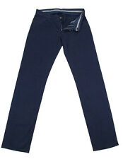 New $375 Canali Navy Blue Solid Pants - Slim - 36/52 - (91542ZZX9090630)