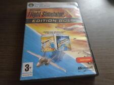 Jeu Flight Simulator X Gold Edition Professionnelle + Acceleration Sur PC .