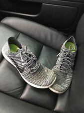 Nike Free Run Flyknit Men's Size 9.5 Grey Black White Authentic Athletic Shoes