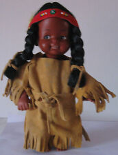 Doll in a woman's suit of the American Indian. 1990. Free shipping.