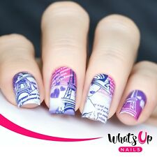 P061 I Heart Paris Water Decals Sliders for Nail Art Design