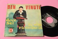 """Ben Venuti 7 """" 45 Tours Dove Six Orig Italie 1967 NM Unique Spécimen IN Vente"""