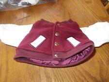 Herrington Teddy Bears Letterman'S Jacket (Burgundy & White)