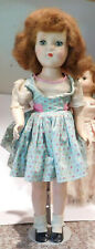 "Vintage 21"" Hard Plastic Head Turning Walker Nanette Arranbee R&B Doll"