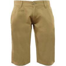 """Mens Chino Shorts Summer Casual 100% Cotton Knee Length Pants Short 30"""" - 40"""""""