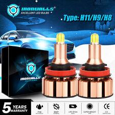 IRONWALLS H11 H9 H8 2000W 300000LM LED Headlight Kit HI/Low Beam Bulbs 6500K