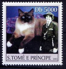 Sao Tome 2003 MNH, Olave Baden Powell, Girl Scout Cat, Domestic