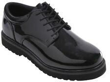 oxford uniform shoes poromeric leather high gloss work sole black rothco 5250