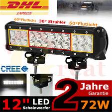"""12"""" 72W Cree LED Arbeitsscheinwerfer SUV ATV UTE 12V Offroad Lichter Lichtbalken"""