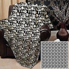 NOIR ET BLANC ELVIS Design Doux Couverture polaire Housse Couvre-lit sofa lit
