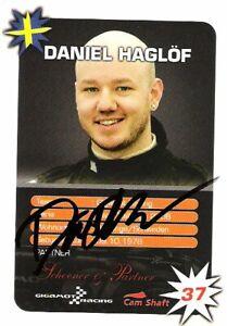 Daniel Haglof (WTCR Cupra) SIGNED Mini Challenge promo card