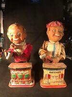 Antique Mechanical Bartender and Charlie Weaver Bartender Figures Barn Find