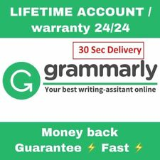 Grammarly Premium | Lifetime Warranty | Support | 5 Sec Delivery