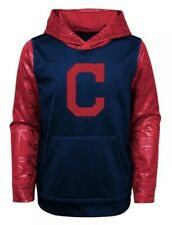 New NWT L/S Cleveland Indians Hoodie Sweatshirt Youth Boys S Small Size 6/7