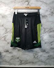 Adidas Portland Timbers MLS Soccer Training Shorts Formotion Mens M NWT BLACK/Gr
