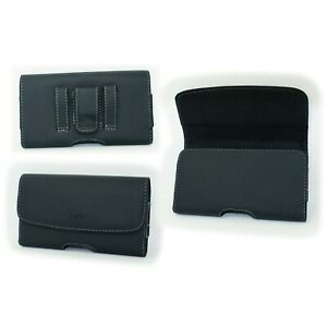 Leather Case Pouch Holster w Belt Clip for US Cellular Kyocera DuraXA Dura XA