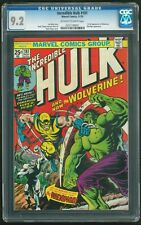 INCREDIBLE HULK 181 - CGC 9.2 (First Appearance of Wolverine) OLDER LABEL