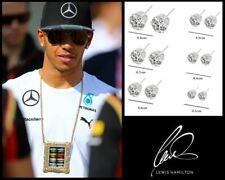 Men's/Boy's: Lewis Hamilton, SIX Pairs, 18K Silver Plated, Diamond Stud Earrings