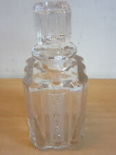 Vintage Heavy Glass / Crystal Marked Scotch whiskey decanter 9""