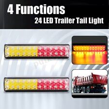 Pair 12V 24V LED Trailer Tail Lights Lamps Ute Truck Boat Stop Reverse Indicator