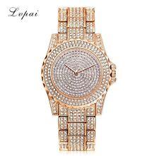 Luxury Ladies Bling Watch Fashion Quartz Diamond Rhinestone Wristwatches UK New