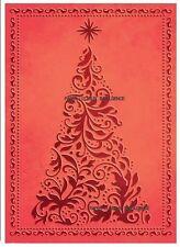 NEW•GORGEOUS••CHRISTMAS TREE FRAME • EMBOSSING FOLDER •WORKS  CUTTLEBUG + SIZZIX