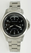 Hamilton King Khaki Field Automatic Day Date Watch H644550 Black Military Dial