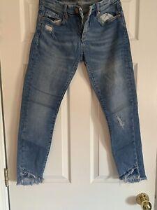 Blank Destructed Skinny Jeans—27