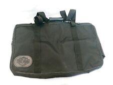Harley Davidson Embossed Black Canvas Travel Bag Duffel Suitcase Luggage