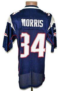 NFL NEW ENGLAND PATRIOTS AMERICAN FOOTBALL SHIRT REEBOK SIZE S ADULT #34 MORRIS
