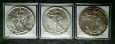 1987, 1989, and 1997 $1 American Silver Eagle Dollars