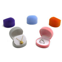 Cute Velvet Ring Earrings Necklace Present Gift Box Jewelry Display Packaging v