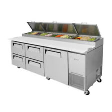 Turbo Air Tpr-93Sd-D4-N Pizza Prep Table w/Four Drawers Stainless (Tpr-93Sd-D4)