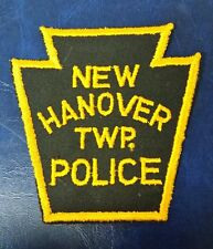 NEW HANOVER TOWNSHIP, PENNSYLVANIA POLICE SHOULDER PATCH PA