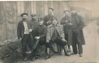 Seven Soldiers Real Photo Postcard rppc