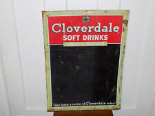 Cloverdale Soft Drink Soda Menu Chalkboard Metal Sign