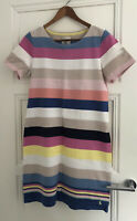 Joules Womens Riviera Jersey Dress - BLUE MULTI STRIPE Size 12