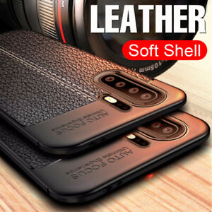 For Huawei P40 P30 Lite P20 Pro Shockproof Rubber Slim TPU Leather Case Cover