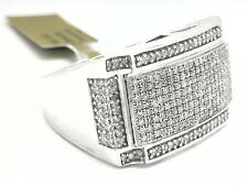 GENUINE 1.27 Cts DIAMONDS MEN'S RING 14k White Gold ** Brand New With Tag **