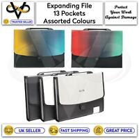 Expanding Display File 13 Pocket A4 Organizers Filing & Storage Secure Documents