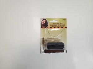 Hair Extension Sewing/Braid/Weaving Decor Weft Thread+Needle Durable Black
