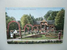 Ansichtskarte Bad Homburg v.d.H. Molkenanstalt und Rosengarten 1913