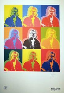 Grafica Pop Art numerata e firmata a mano, Stefano Fiore, tributo ai Nirvana